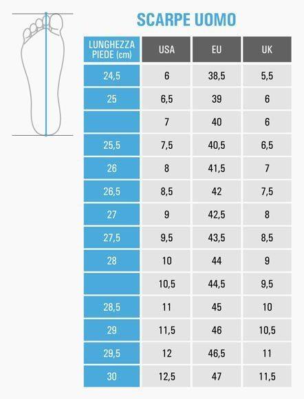 Lunghezza del piede: determinare la misura della scarpa in ...